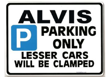 ALVIS Car Parking Sign - Gift for ta tc21 td te tf conertible  owner - Size Large 205 x 270mm
